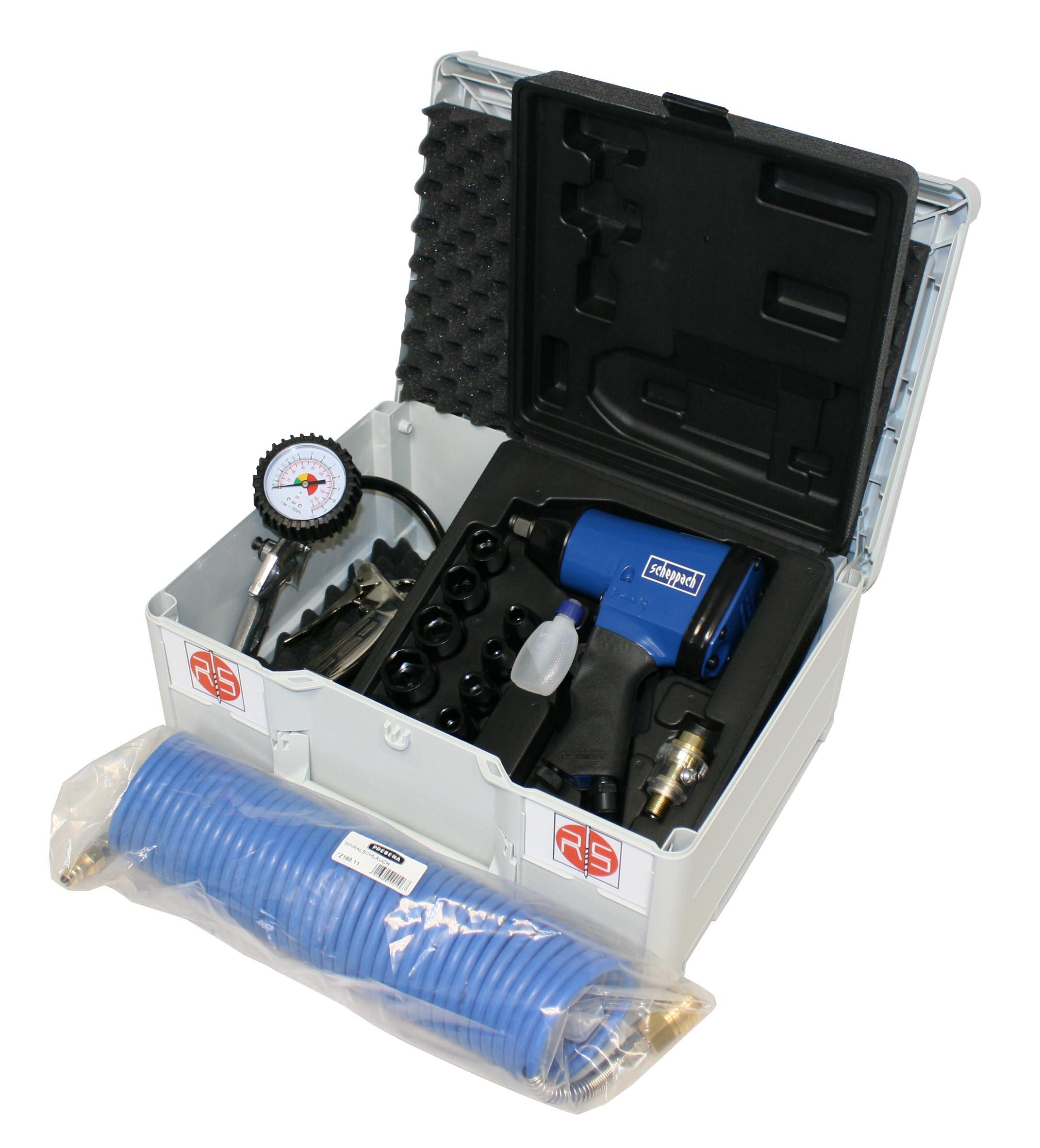 Systainer Box Nr. 31 - Systainer-Koffer mit Schlagschrauber, Nüsse inkl. Reifenfüller, Ausblaspistol