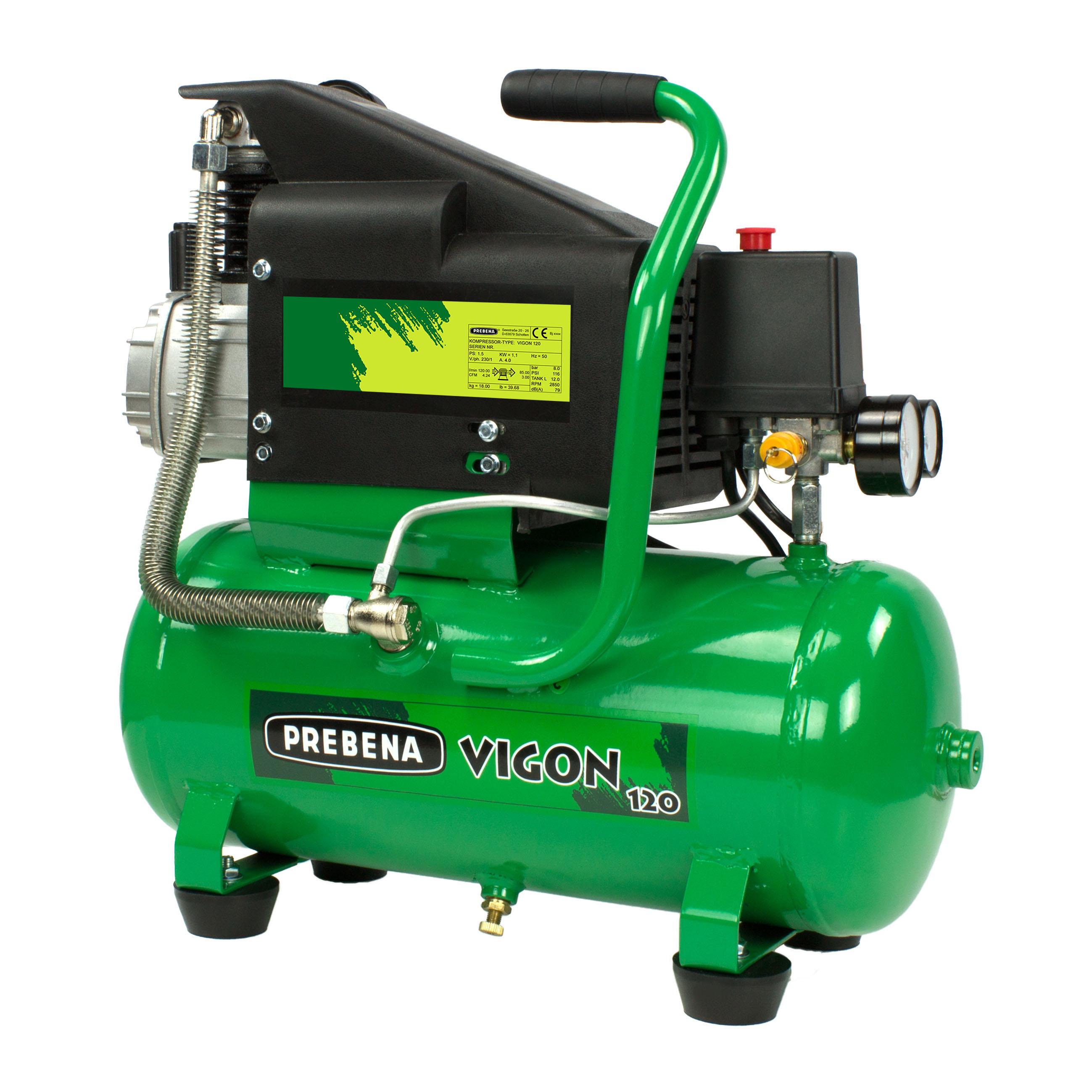 Set VIGON120 Kompressor + Schlauchset + Reifenfüller + Ausblaspistole
