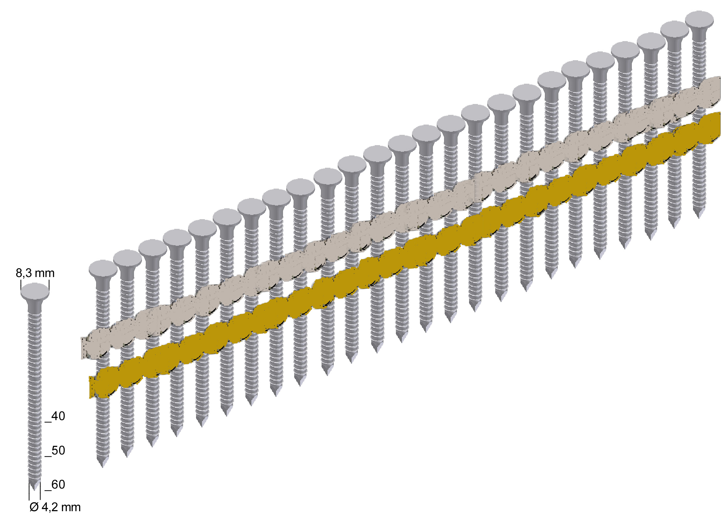 ANK40/60NKRI Ankernägel verzinkt Ringschaft